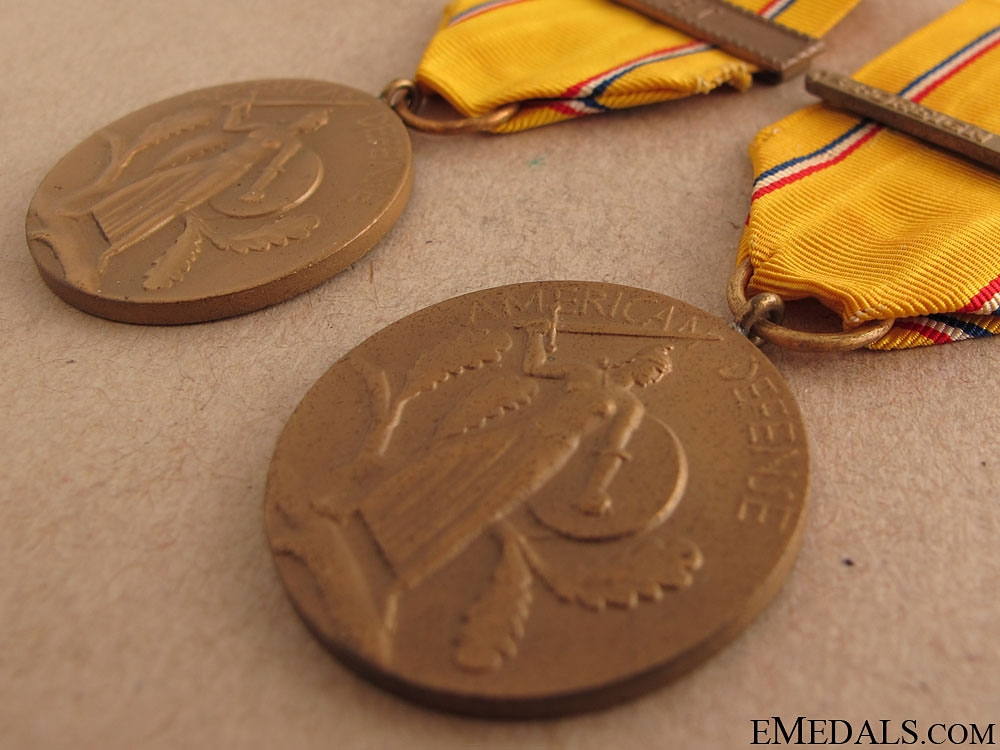 Two American Defense Service Medals