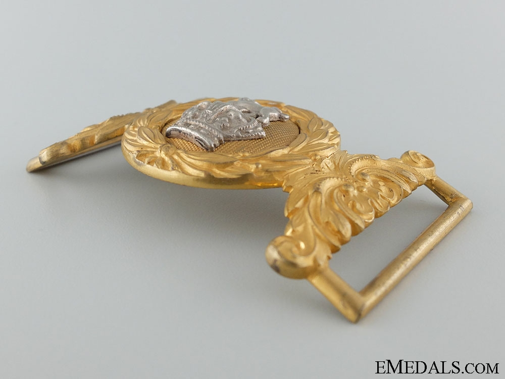 A Victorian Royal Marine Light Infantry Officer's Buckle