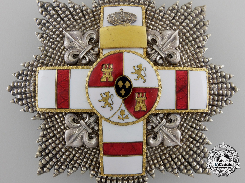 A Spanish Order of Military Merit with White Distinction; Breast Star