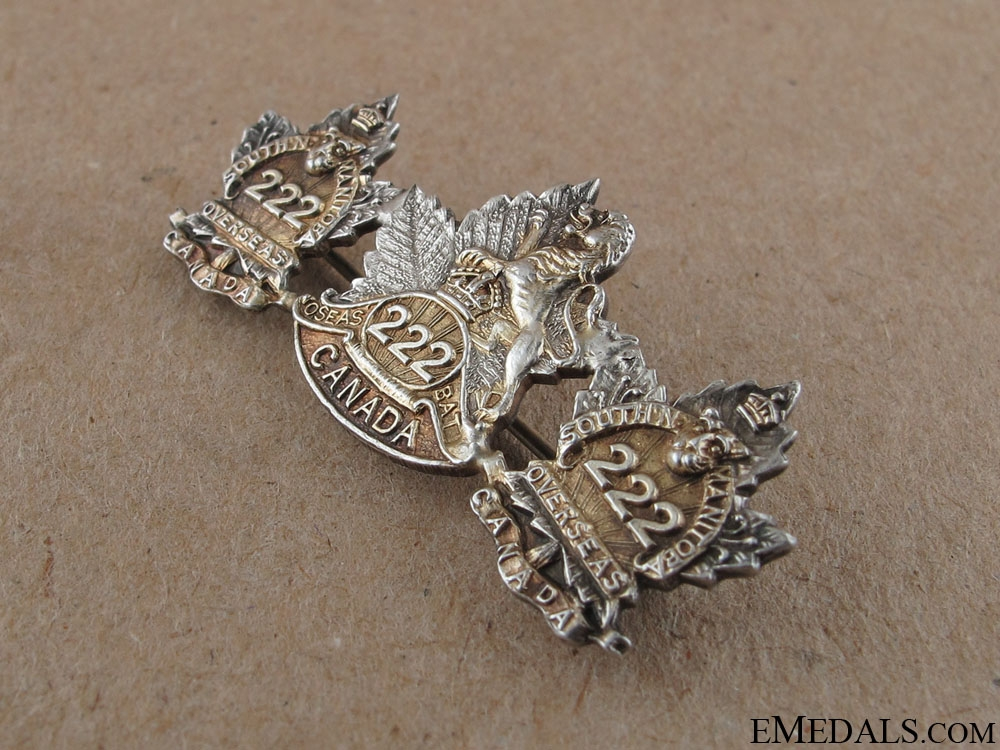 WWI 222nd Infantry Battalion Sweetheart Pin
