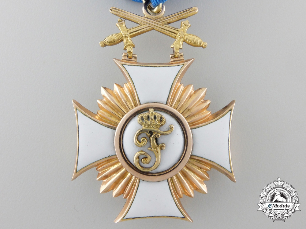 A Wurttemberg Friedrich Order with Swords; 1st Class in Gold