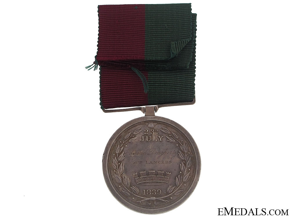 A Ghuznee 1839 Medal to the 16th Lancers