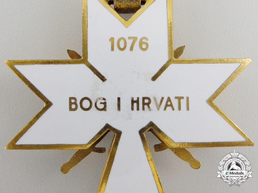 A CroatianOrder of King Zvonimir; First Class Cross with Swords