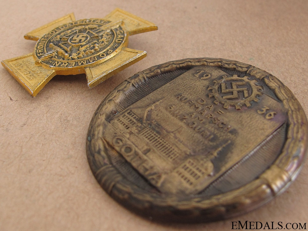 Two Third Reich Day Badges
