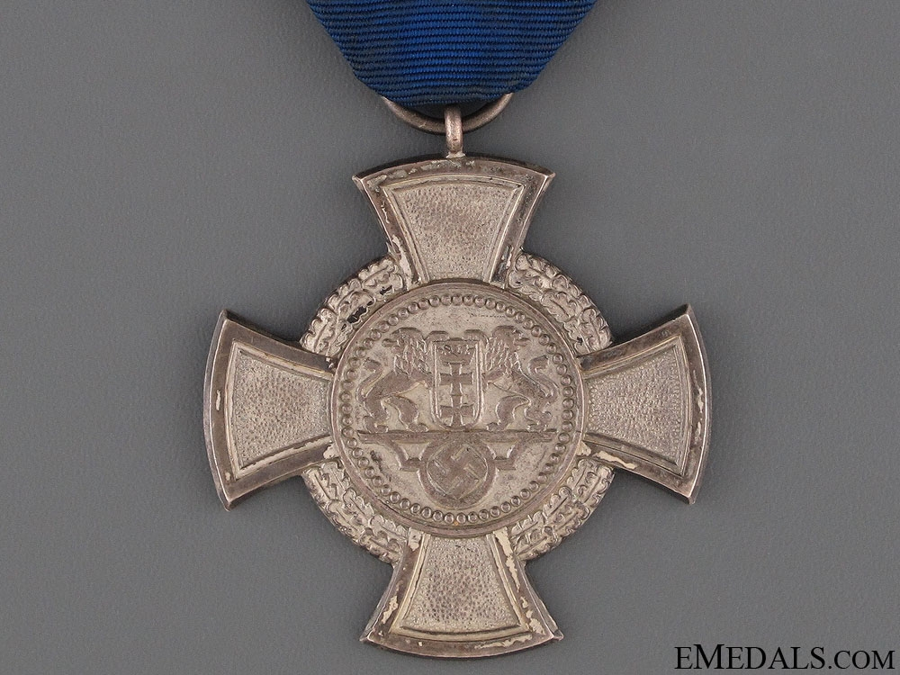 A Rare Danzig Faithful Service Cross