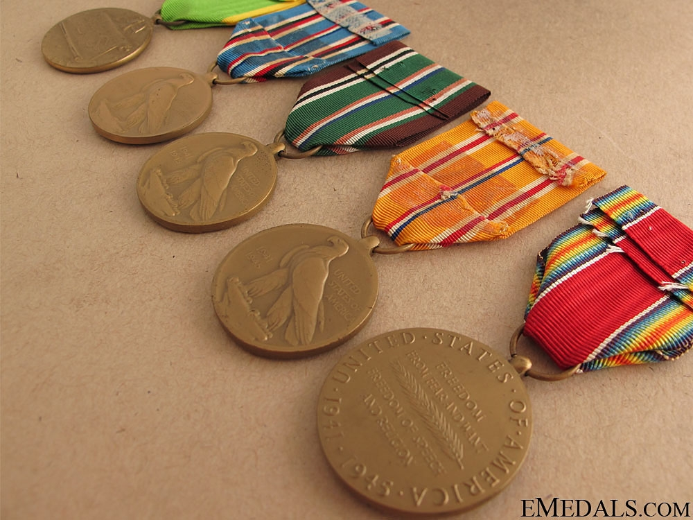 WWII Lot of Five Medals