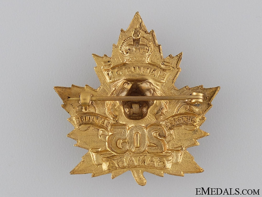 WWI 205th Hamilton Tiger Battalion Sweetheart Badge CEF