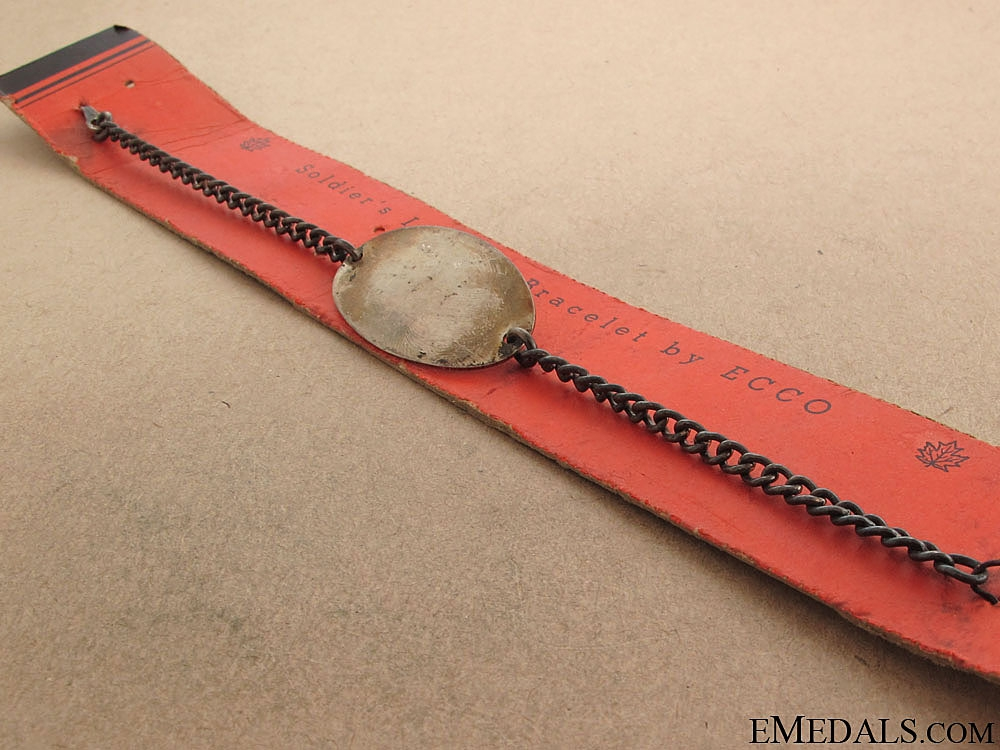 WWII Unissued Canadian ID Tag