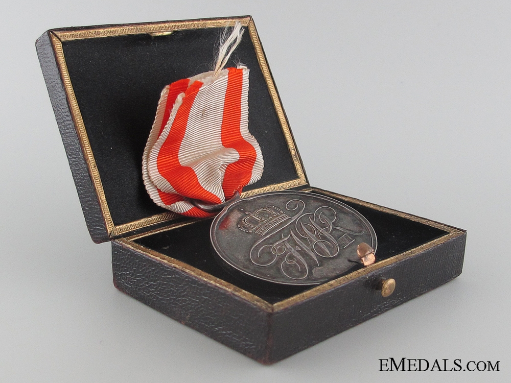 A Cased Prussian Military Merit Medal