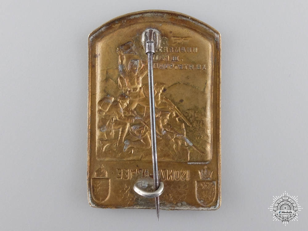 An Austro-Hungarian Army of the Isonzo Front Veteran's Badge 1915