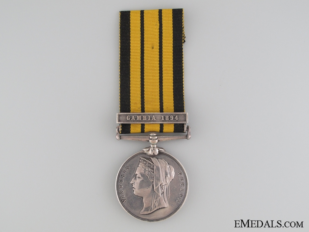 1892 East and West Africa Medal to H.M.S. Satellite