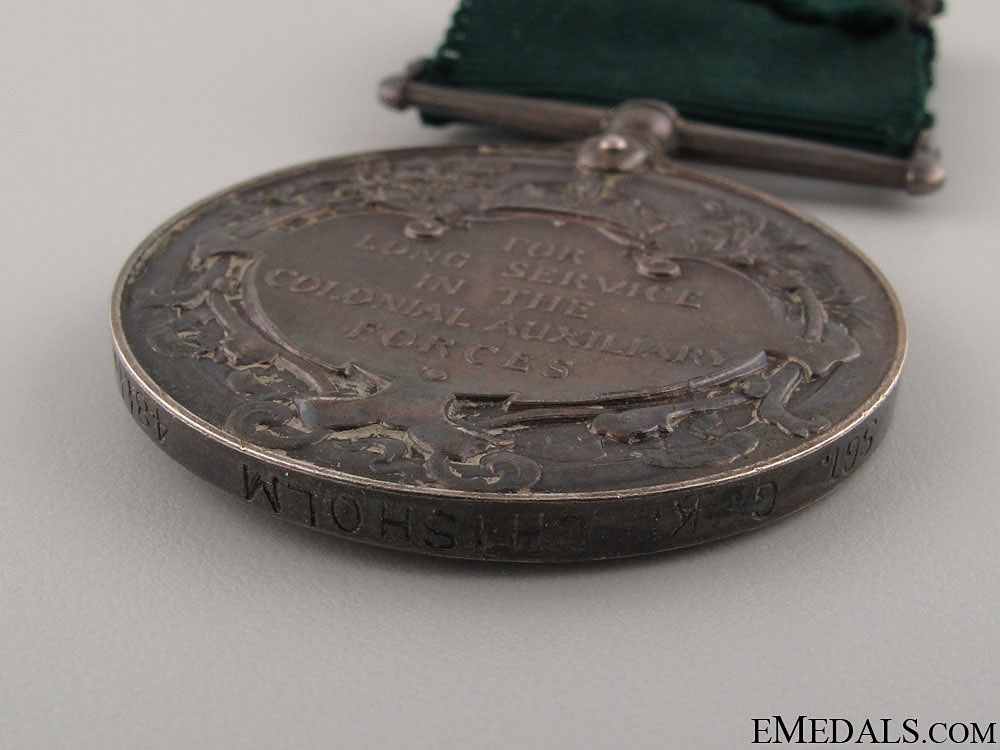 Colonial Auxilliary Forces Long Service Medal to the 48th Hghldrs
