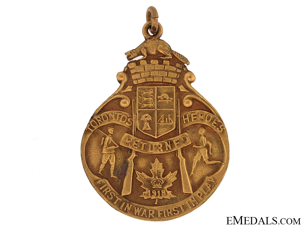 1918 Heroes of Toronto Athletics Medal