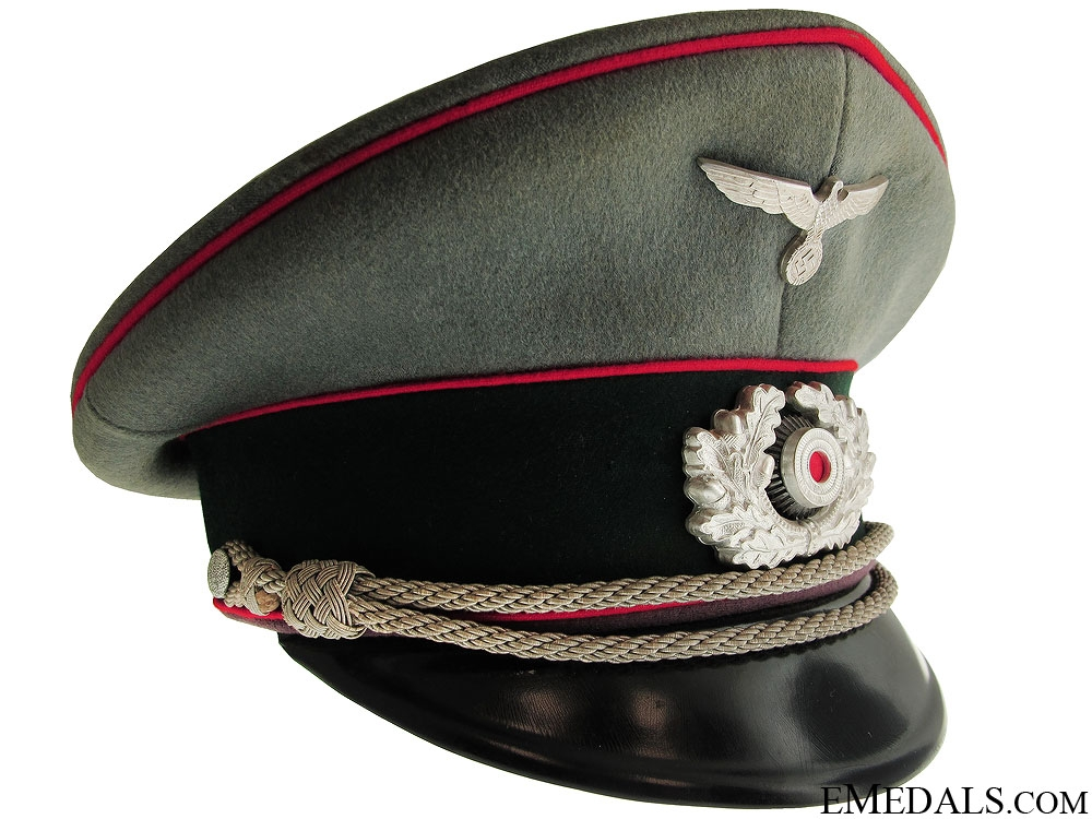WWII Army Flak Officer's Visor Cap