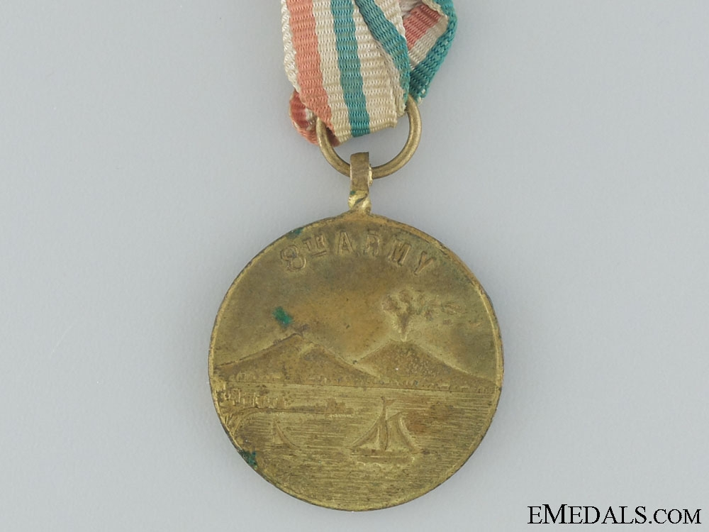 WWII 8th Army Commemorative Medal; Naples 1943