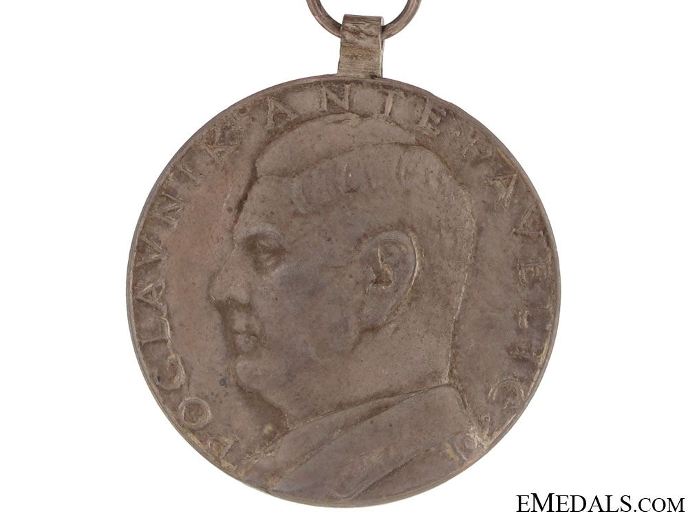 A. Pavelić Small Silver Bravery Medal - solid Silver