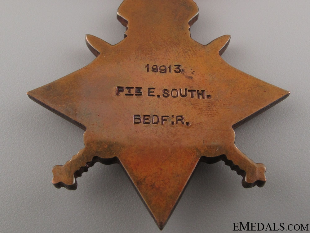 WWI KIA Group to the Bedfordshire Regiment