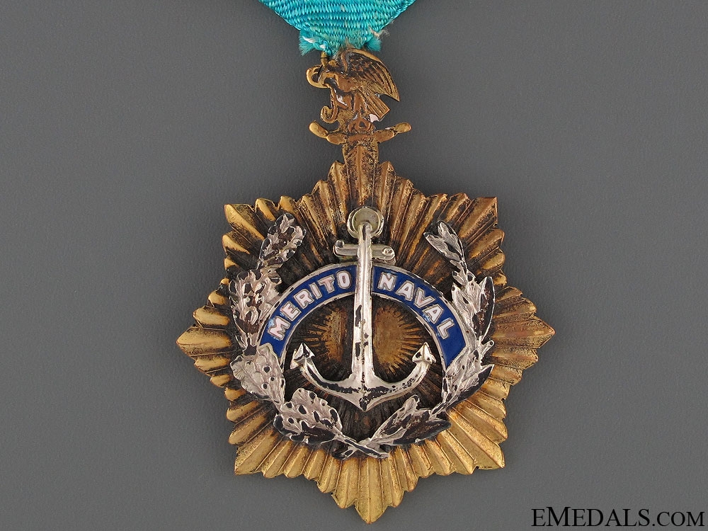 A Mexican Naval Merit Medal - 1st Class