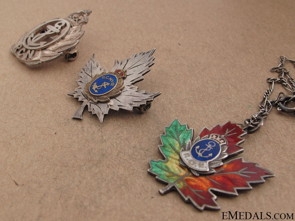 WWII Two Canadian Navy Sweetheart Pins