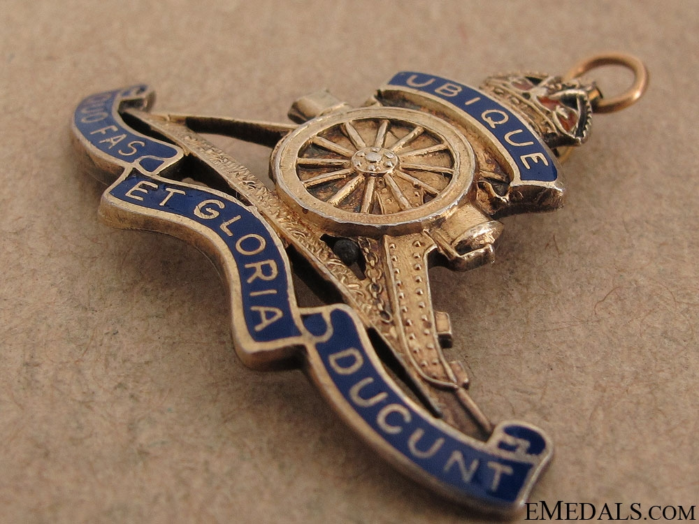 WWII Royal Canadian Artillery Pendant by Birks