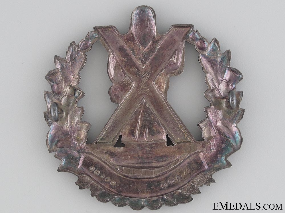 Queen's Own Cameron Highlanders Officer's Bonnet Badge