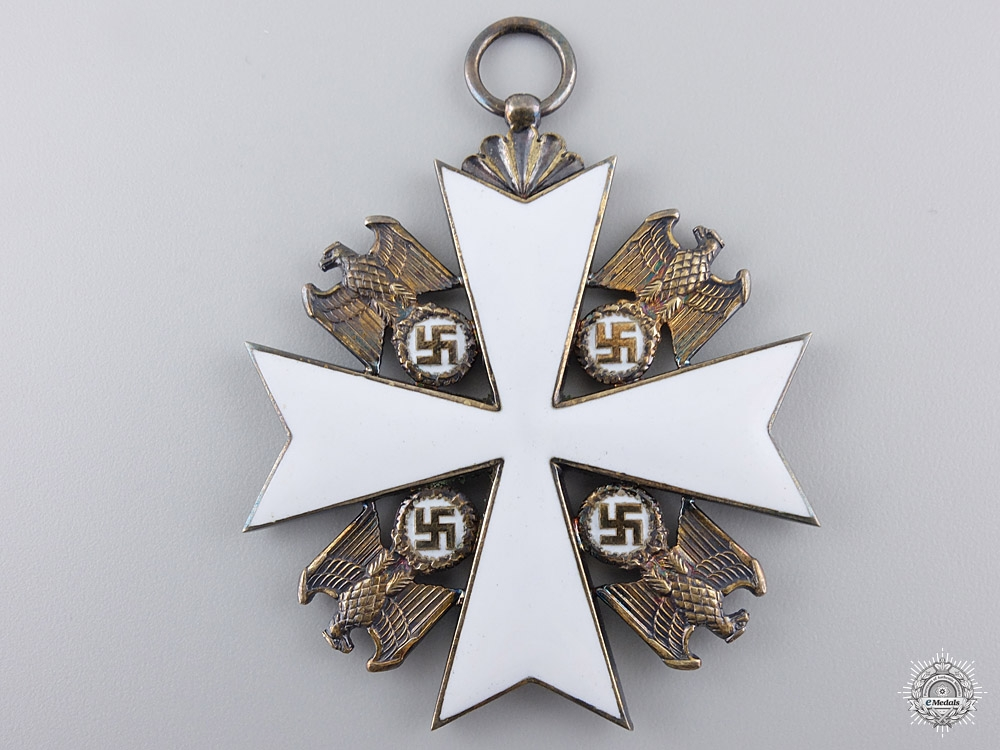 A German Eagle Order with Document to Italian General Ilari  28k