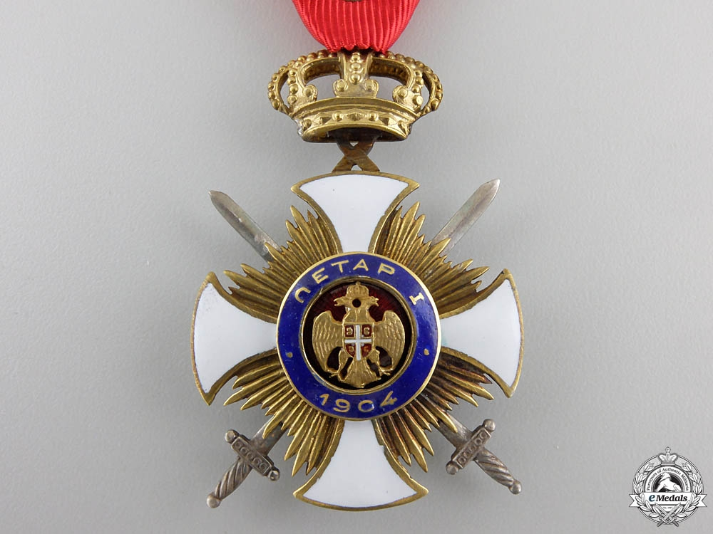 A Serbian Order of Kara-George with Swords; Fourth Class