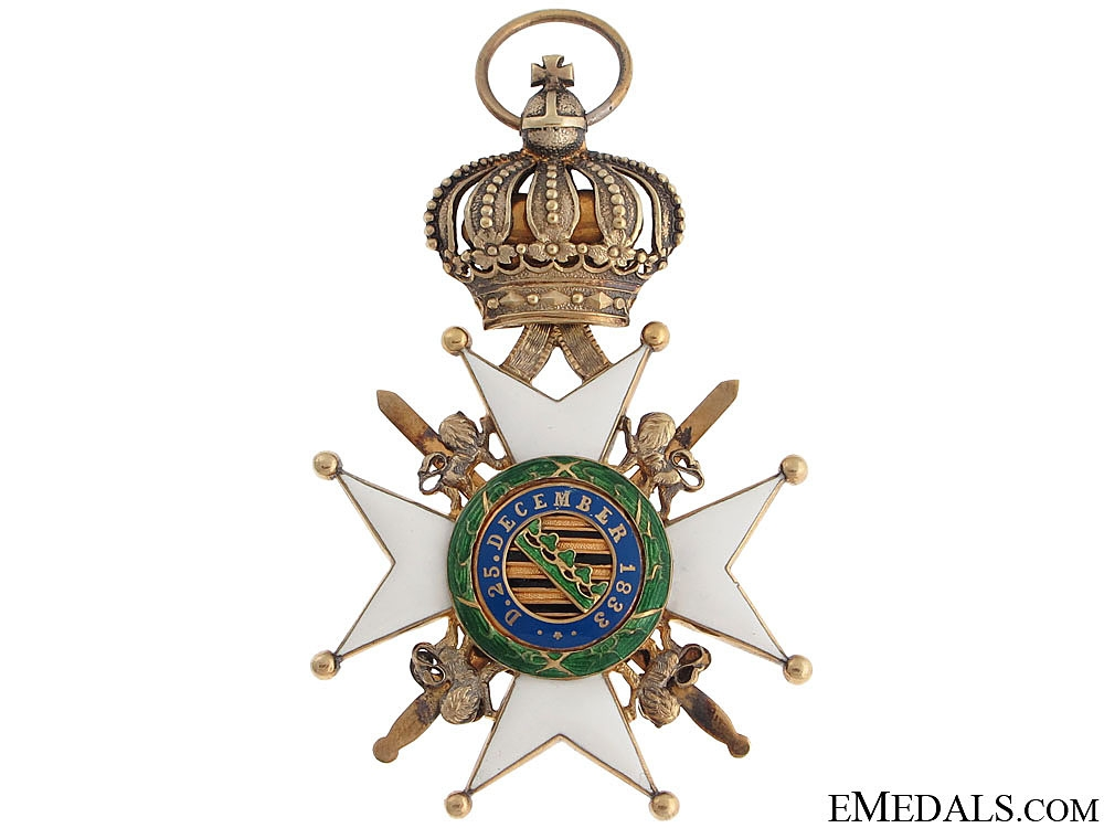 Saxe-Ernestine House Order – Knight 1st. Class