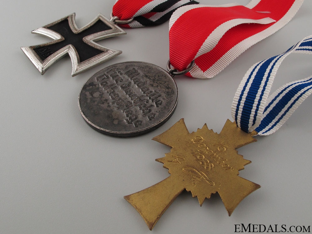 Three WWII German Medals & Awards