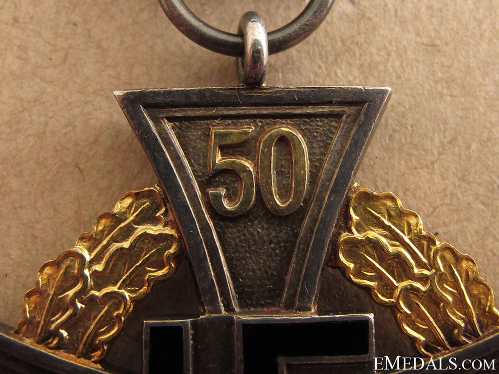 A Cased 50 Year Faithful Service Cross
