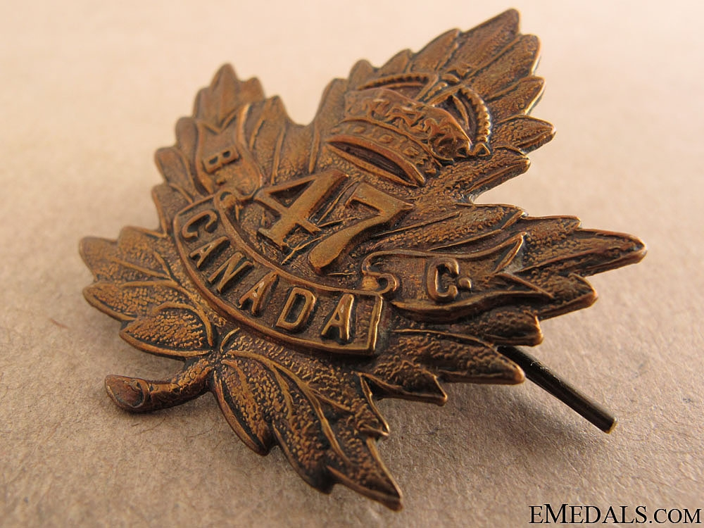 WWI 47th Infantry Battalion Badges & Insignia