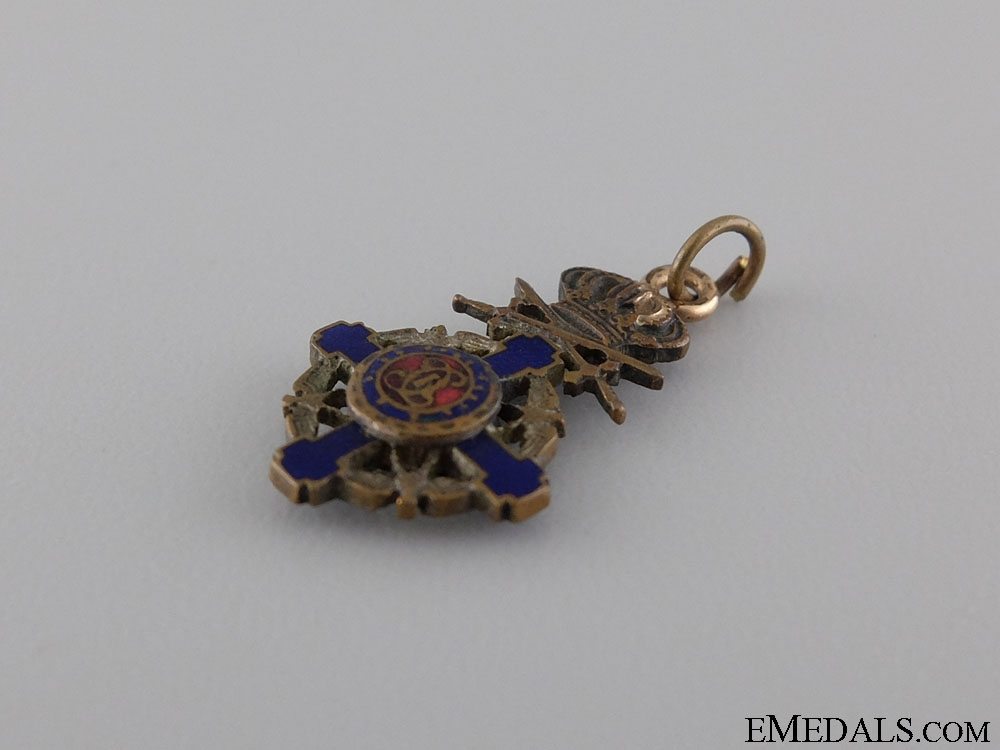 A Miniature Order of the Star of Romania; Knight