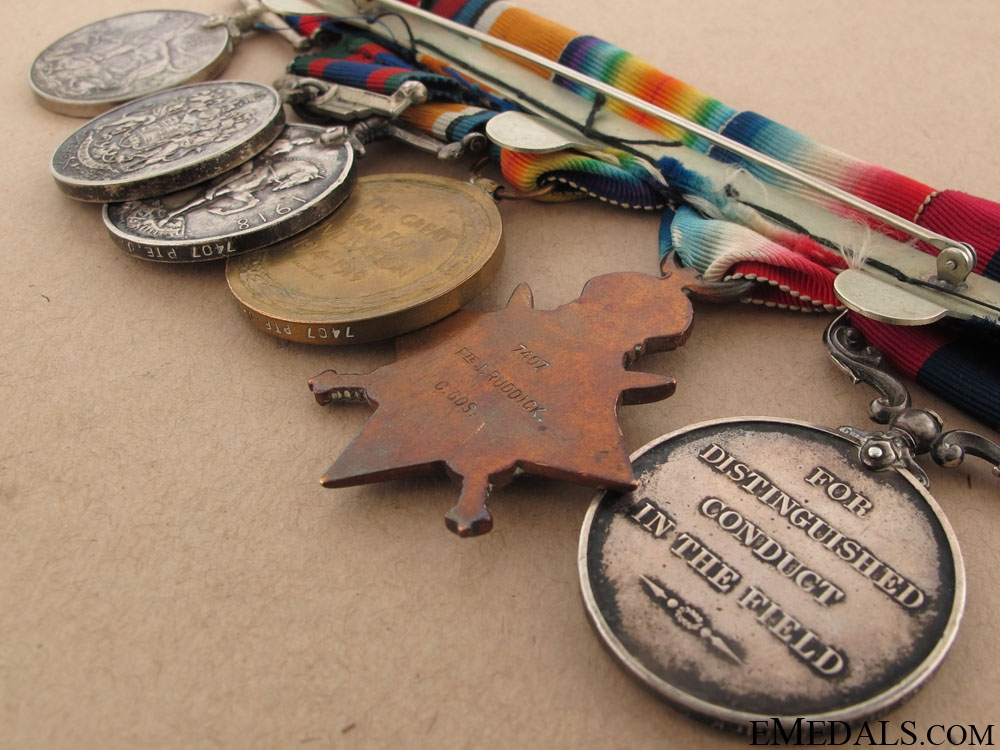 A Great War D.C.M. group awarded to the Coldstream Guards