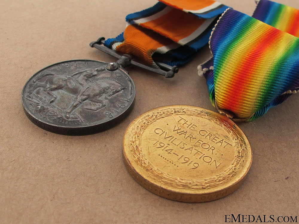 WWI Pair to the 3rd Border Regiment