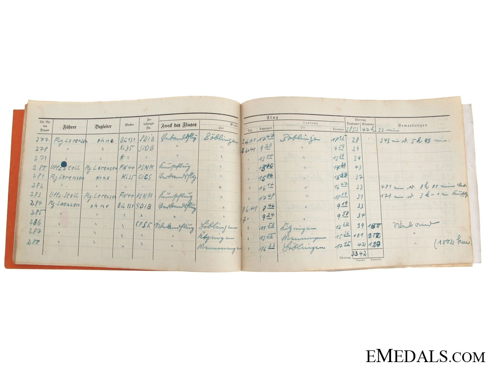 Luftwaffe Group of Documents-Photos-Flugbuch, & More