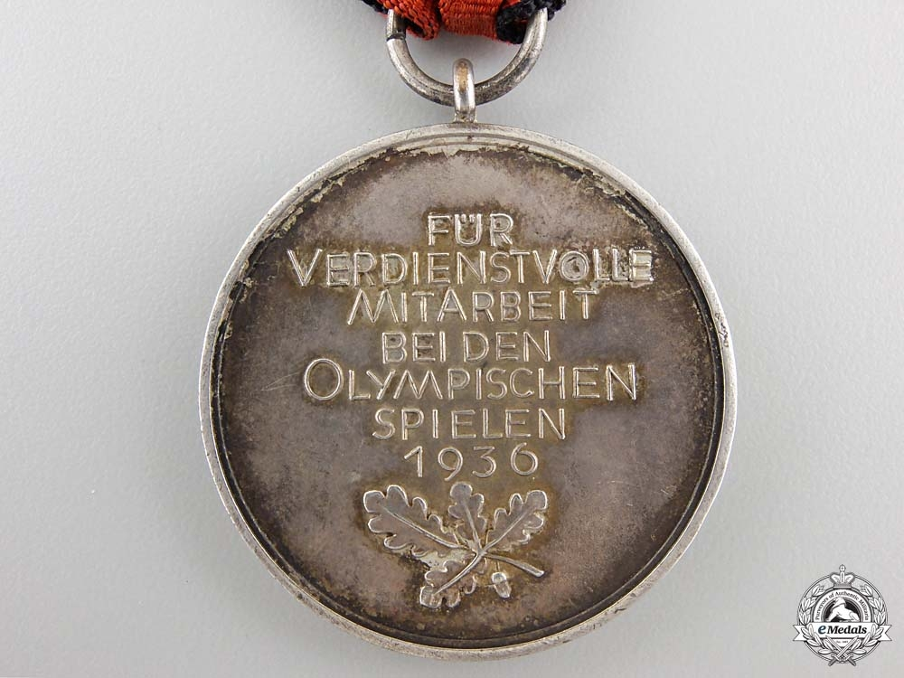 A 1936 Berlin Summer Olympic Games Medal with Case