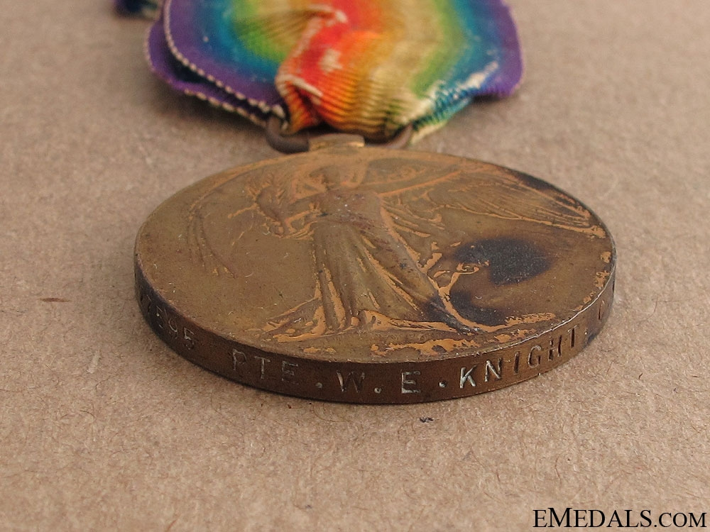 First War Medals of Charles & William Knight