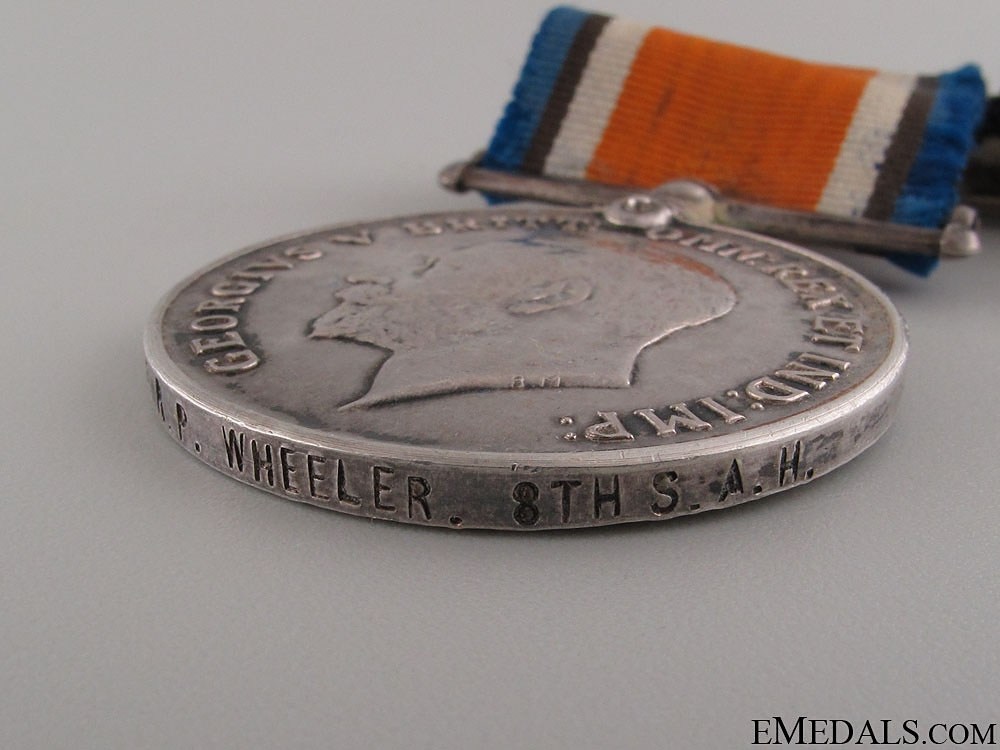 WWI Pair to the 8th South African Horse