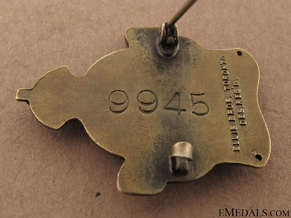 WWI Imperial Munitions Board Woman Worker Badge