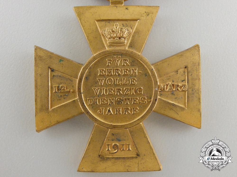 A Bavarian Luitpold Cross for Forty Years' State Service