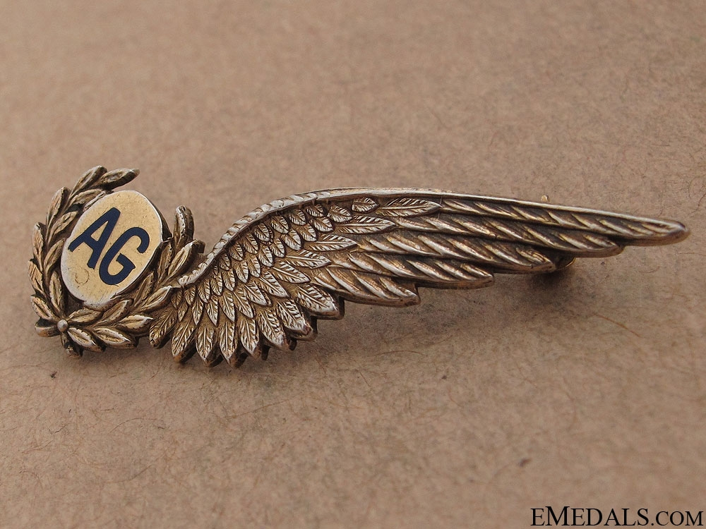 WWII RCAF Air Gunner's Pin by Birks
