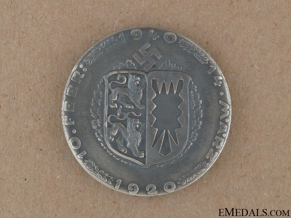 Commemorative Table Medal 1920-1940