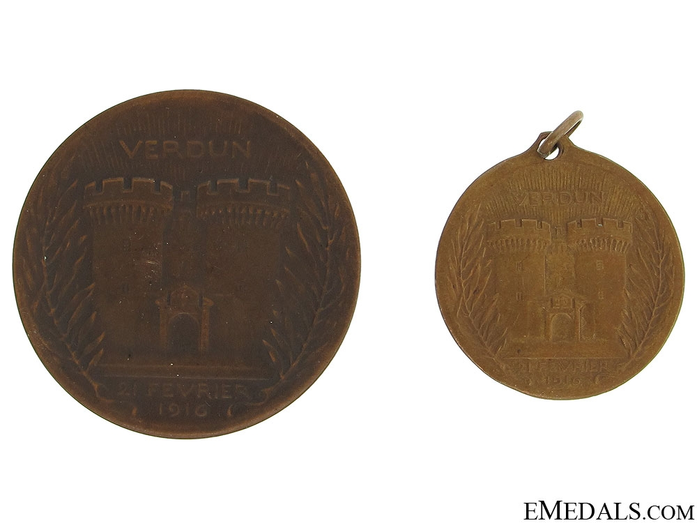 WWI Two Verdun Medals
