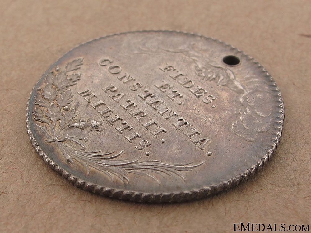 A Rare 1790 Bravery Medal for the Netherlands Campaign