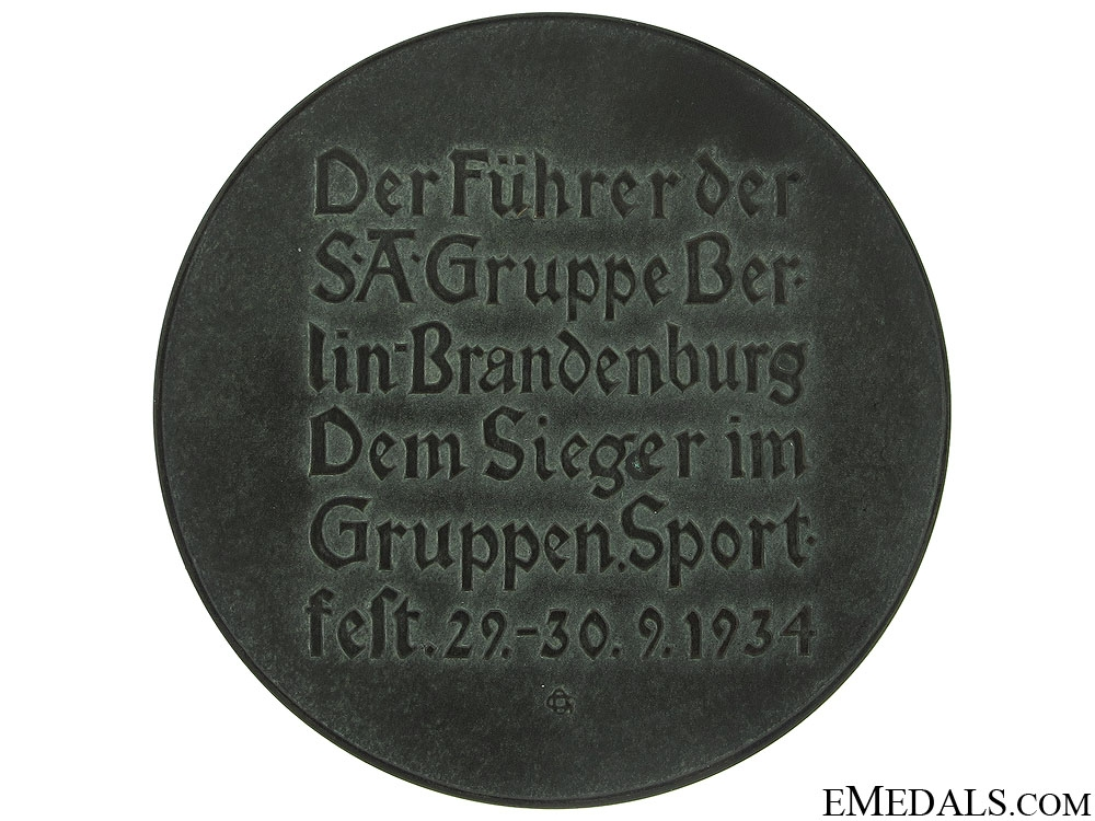 A SA Sport Prize Table Medal
