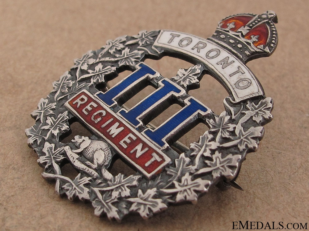 WWI 3rd Infantry Battalion Toronto Regiment Pin