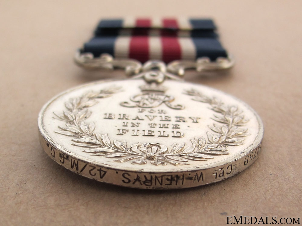 A Military Medal to the Machine Gun Corps