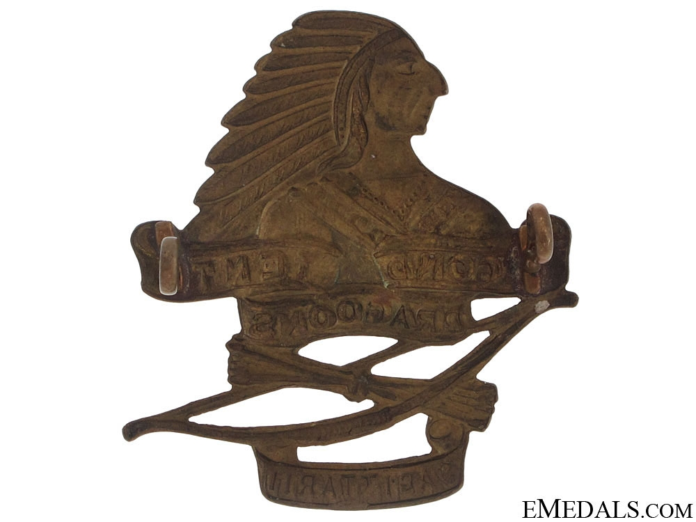 WWII Second-Tenth Dragoons (Hamilton, ON) Cap Badge