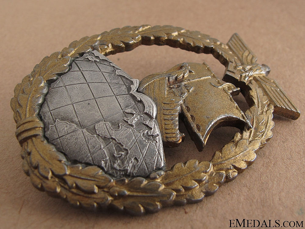 Auxiliary Cruiser War Badge by Schwerin
