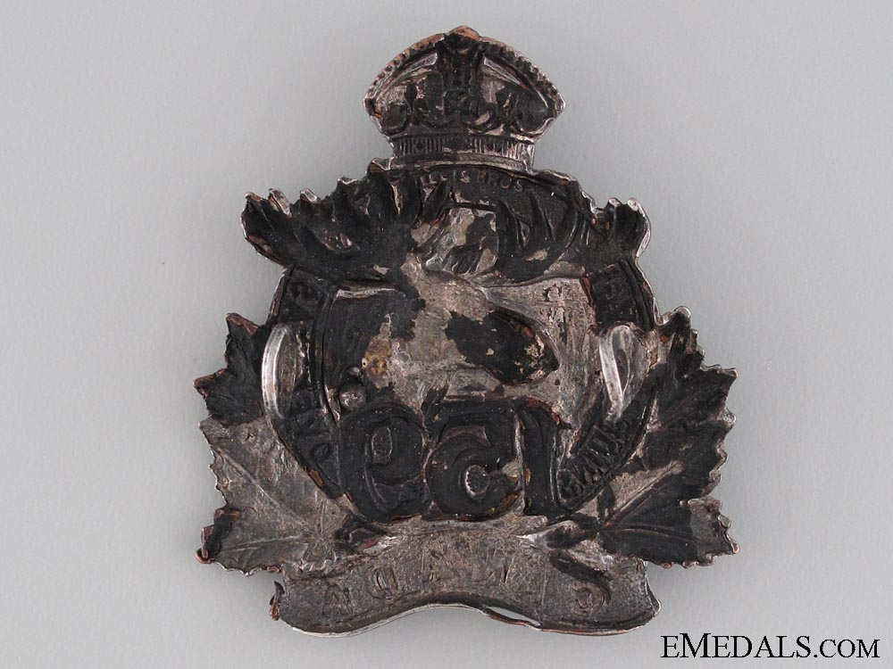 WWI 159th Battalion Field Made Officer's Cap Badge
